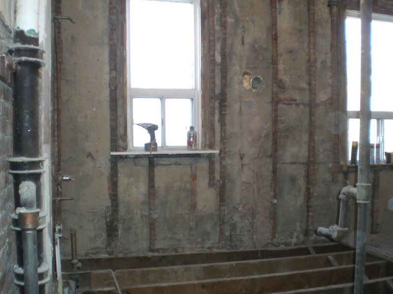 Gutted bathroom1