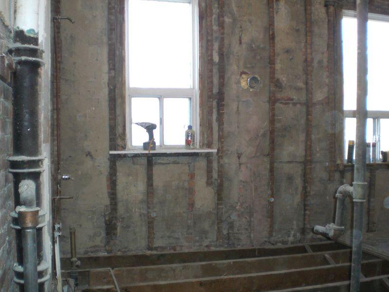 Gutted bathroom1